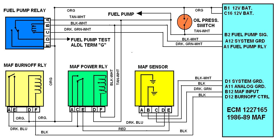 Maf Burn Off Relay Info on 86 corvette battery location