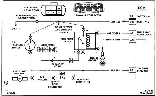 Corvette Fuel Pump Relay Wiring Diagram Guide And Troubleshooting Rhbakaichik: 1986 Corvette Fuel Pump Wiring Diagram At Gmaili.net