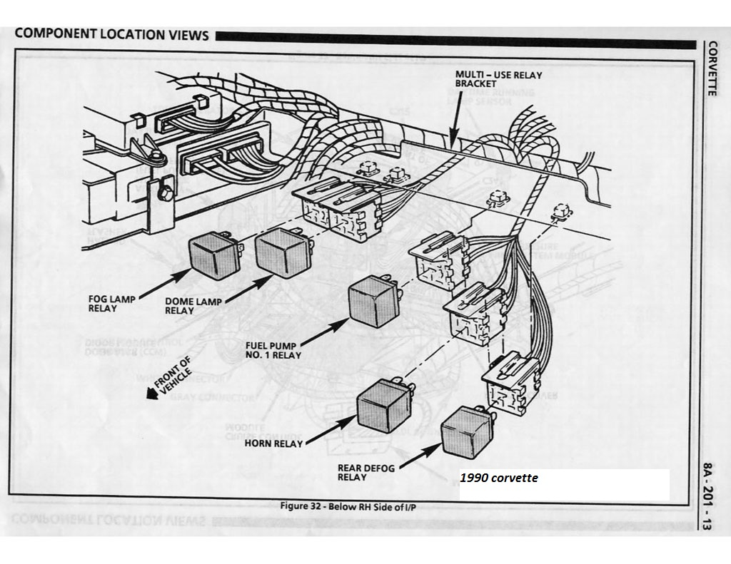 84 corvette fuel pump wiring diagram schematic