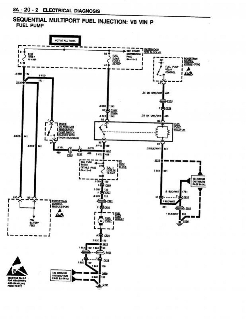 95fuelpump handy fuel system trouble shooting flow chart & info grumpys Fuel Injector Schematic at bakdesigns.co