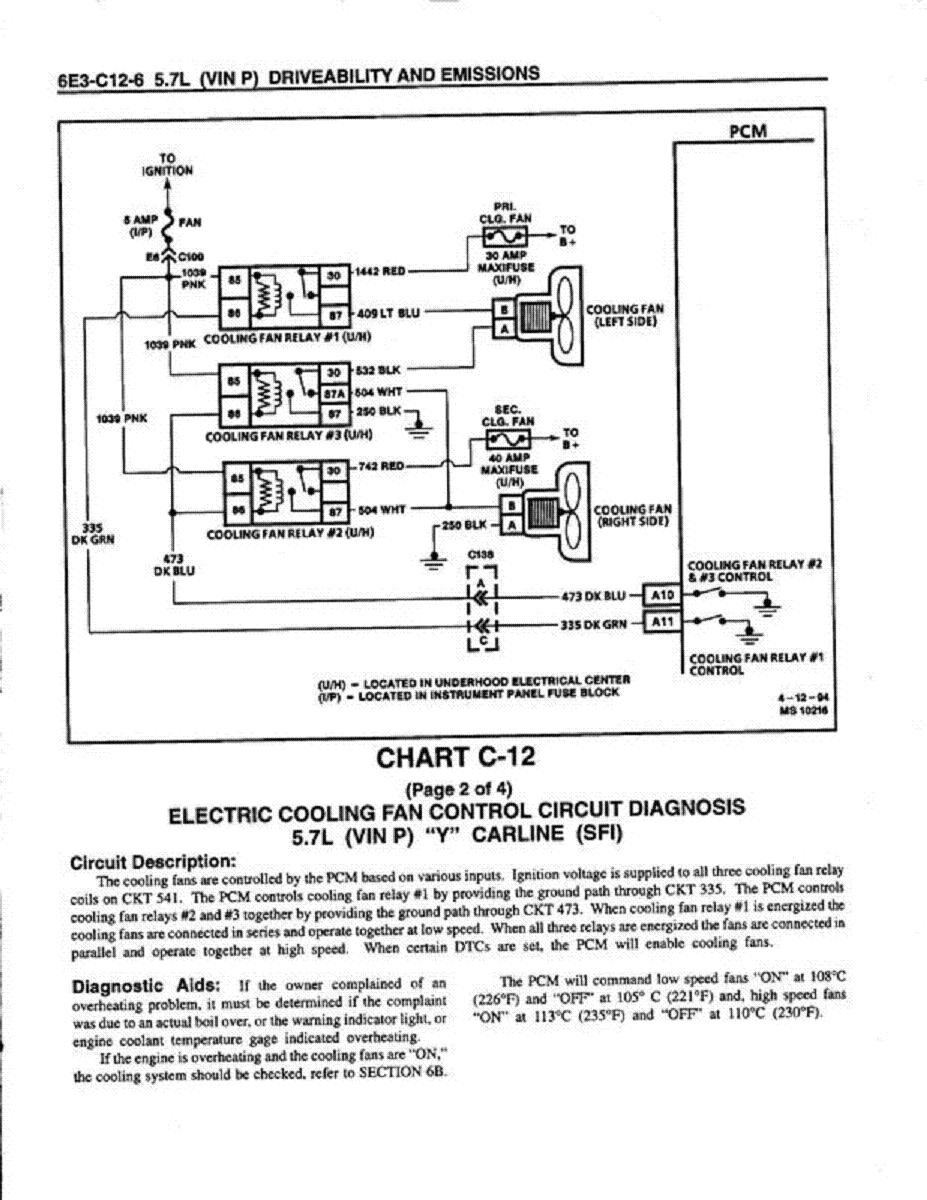 Cooling Off That C4 Corvette Grumpys Performance Garage Dual Radiator Fan Wiring Diagram Furthermore Electric Relay Img