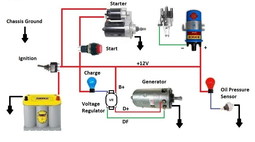 EngineStandWiringforGenerator vw engine wiring vw mk2 engine wiring \u2022 wiring diagrams j squared co HEI Distributor Wiring Diagram at cita.asia