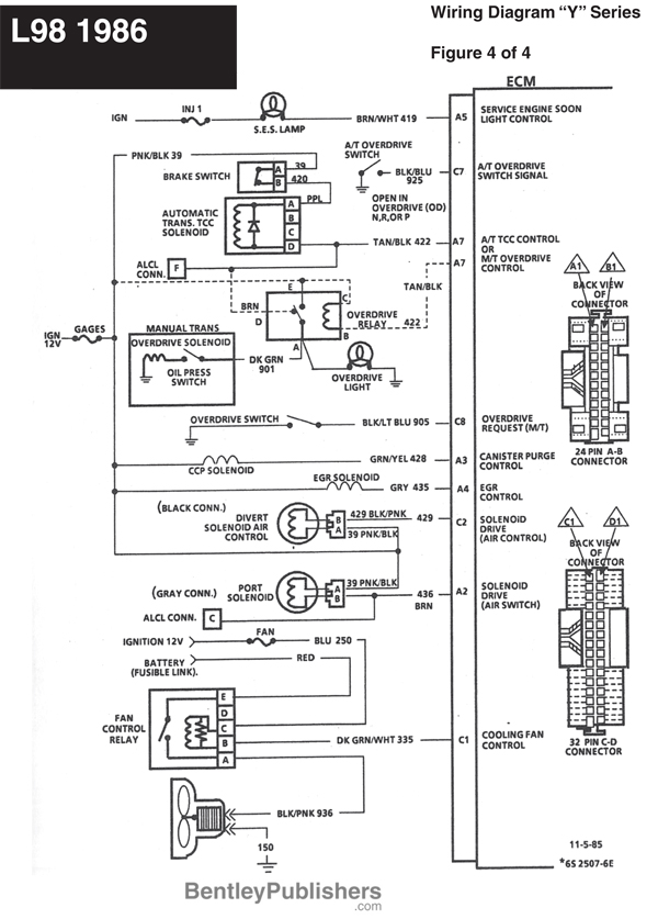 GFCV L98 engine wiring 1986 4 85 corvette fuse diagram corvette wiring diagram instructions 1986 chevrolet corvette wiring diagram at edmiracle.co