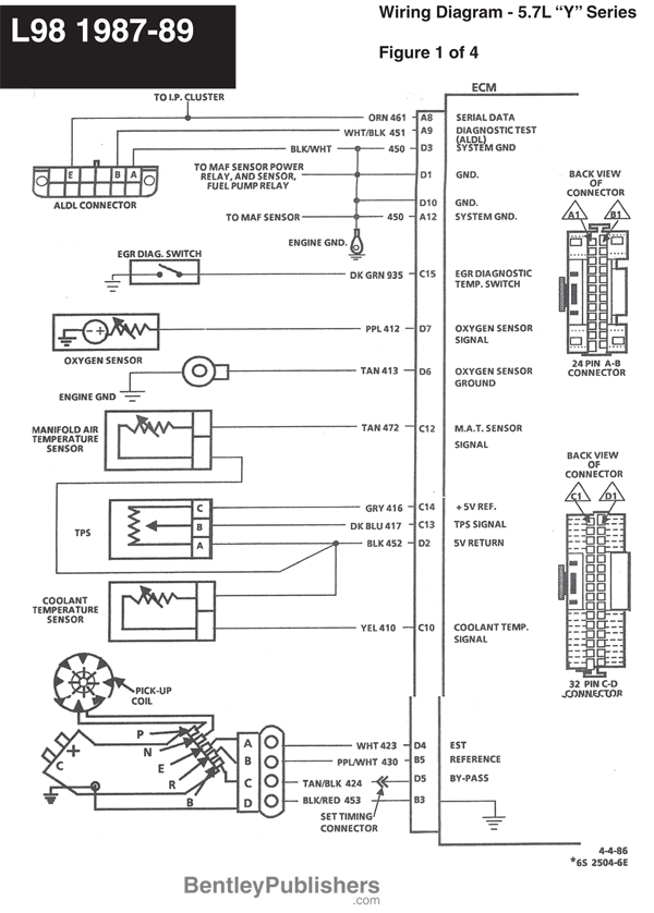 GFCV L98 engine wiring 1987 89 1 85 corvette wiring harness corvette wiring diagram instructions Spark Plug Wiring Diagram at edmiracle.co