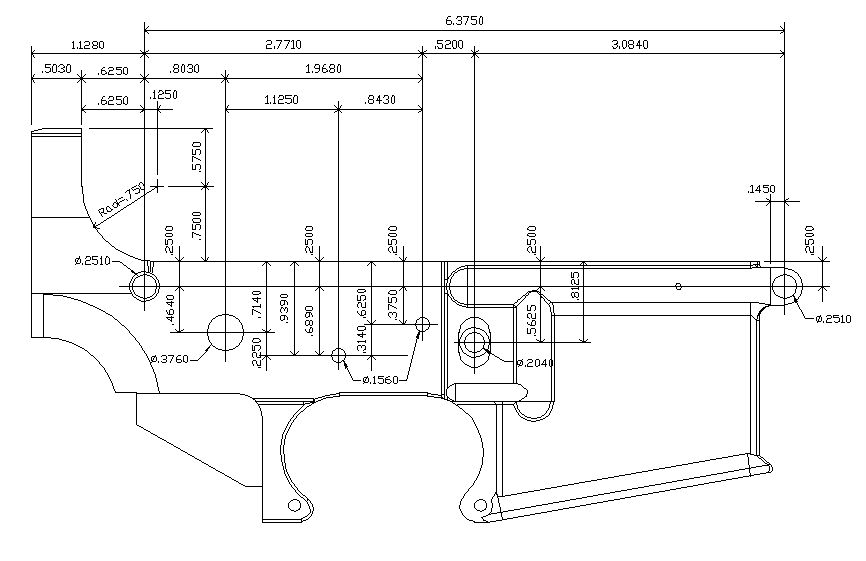 M16 Blueprints With Dimensions Related Keywords M16