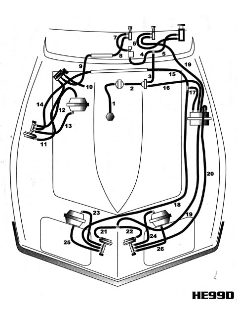C3 C4 Corvette Vacuum Diagrams