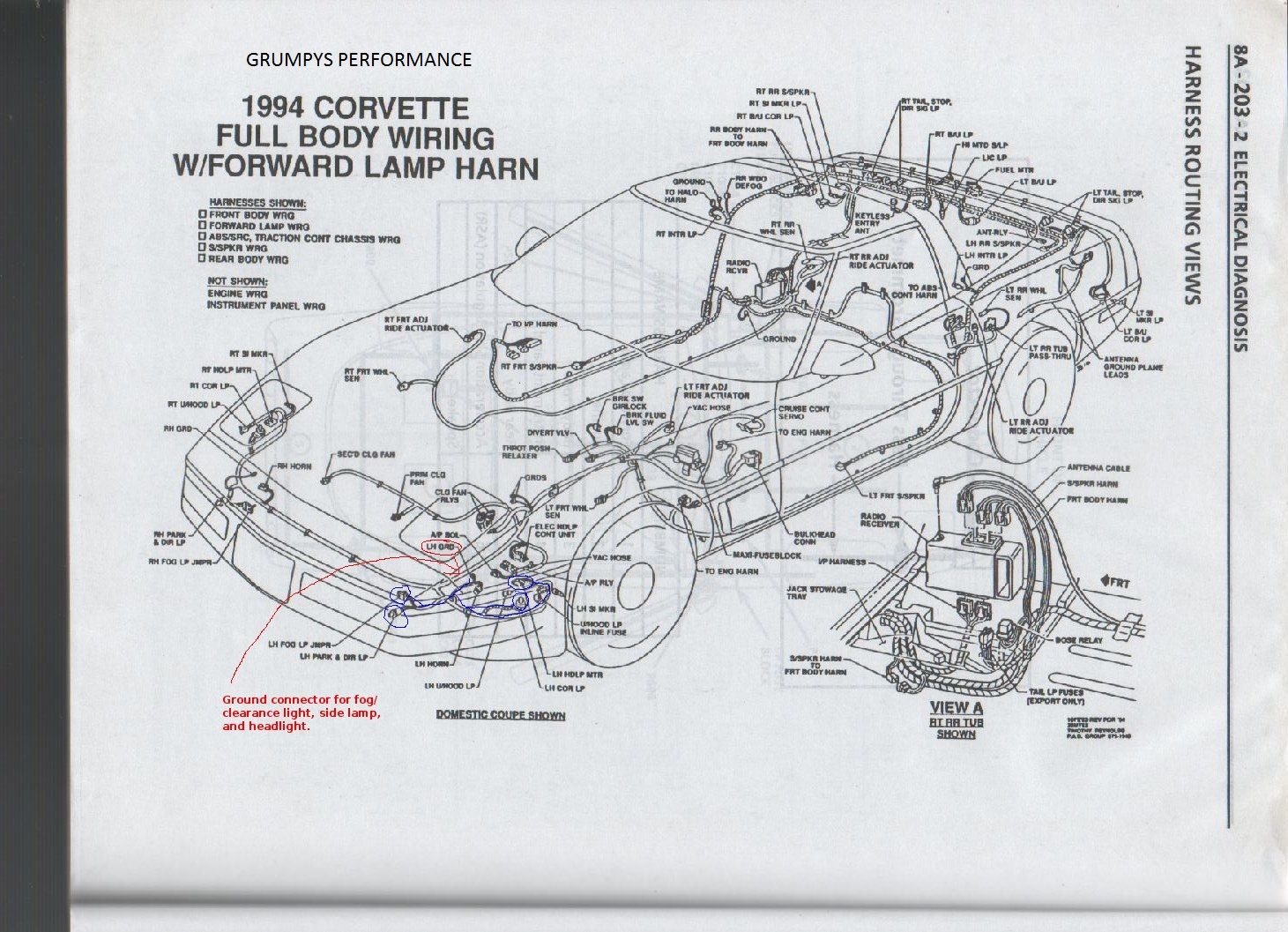 Mounting An Effective Trans Cooler On A C4 Corvette Grumpys Windstar Ecm Wiring Diagram Img
