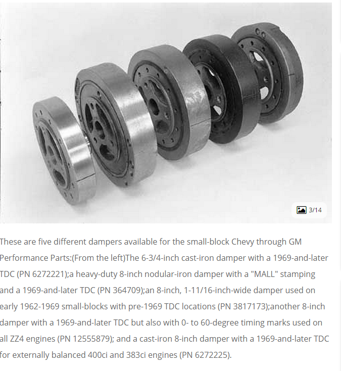 How To Tell Which Small Block Chevy Damper Is Designed For