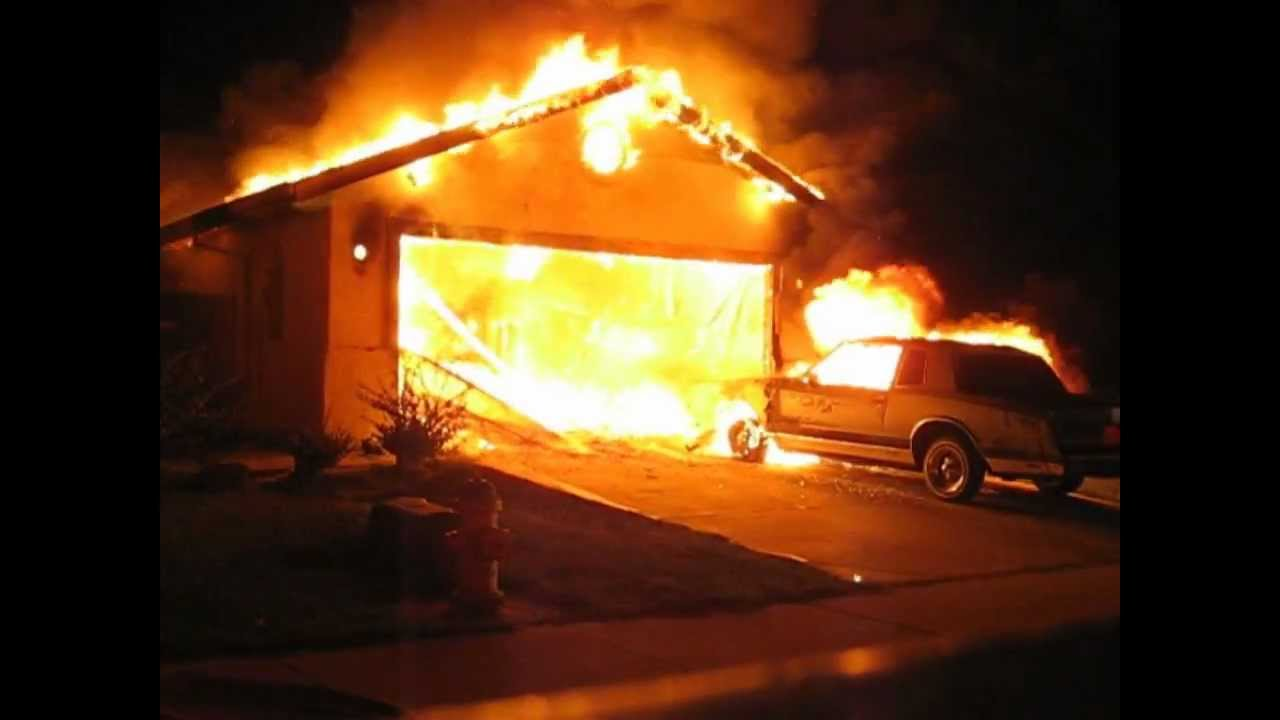 Car Catches Garage On Fire In Rochester: Got Your Fire Extinguisher HANDY??