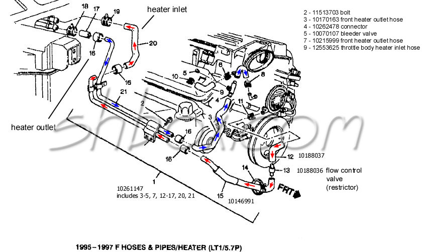 Lt1 Cooling Info on 2004 Lincoln Town Car Firing Order