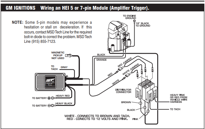 GM Hei Distributor Wiring Connectors GM Wiring Diagrams