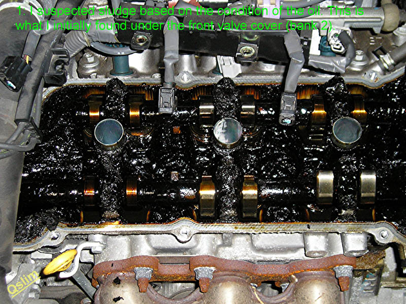 from Franklin tranny fluid in engine for sludge
